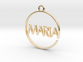 MARIA First Name Pendant in 14k Gold Plated Brass