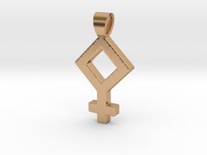Pallas [pendant] in Polished Bronze
