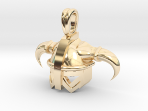 Viking Celtic Helmet Jewelry Pendant in 14K Yellow Gold