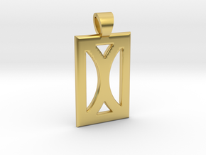 Your month [pendant] in Polished Brass