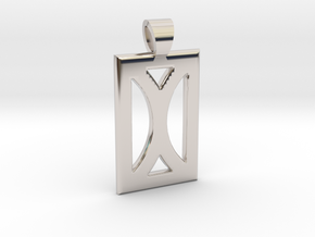 Your month [pendant] in Rhodium Plated Brass