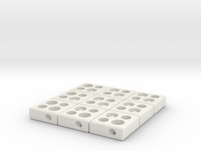 interlocked blocks 3x3 in White Natural Versatile Plastic