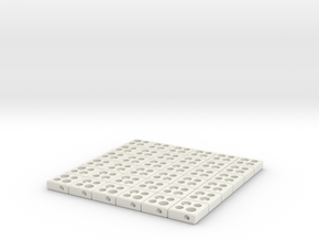interlocked blocks 6x6 in White Natural Versatile Plastic