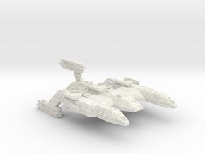 3125 Scale Lyran Firecat Battle Control Ship CVN in White Natural Versatile Plastic