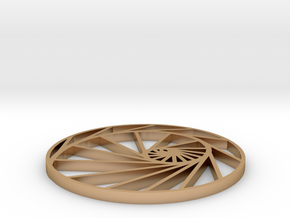 logarithmic spiral pendant in Polished Bronze