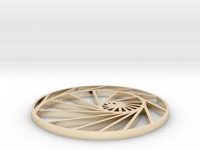 logarithmic spiral pendant in 14k Gold Plated Brass