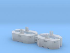 1/87 H0 Landkracht Frontgewichte 2+2 in Smooth Fine Detail Plastic