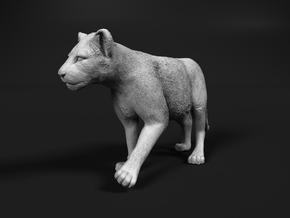 Lion 1:87 Walking Cub in Smooth Fine Detail Plastic