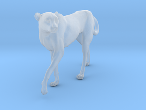 Cheetah 1:20 Walking Female 3 in Smooth Fine Detail Plastic