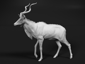 Greater Kudu 1:20 Walking Male in White Natural Versatile Plastic