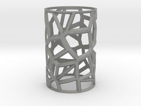 Voronoi Votive Shell  in Gray PA12: Small
