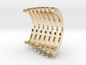 Heat Sink Fins (partial) for PP Starkiller in 14K Yellow Gold