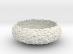 Pebbled Bowl in White Natural Versatile Plastic