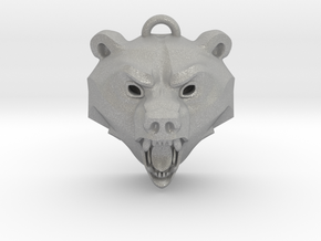 Bear Medallion (hollow version) medium in Aluminum: Medium