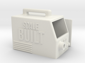 Scale Built Scale Welder / Volt Meter in White Natural Versatile Plastic