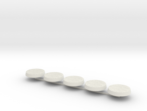 Wood bases 32mm x5 in White Natural Versatile Plastic