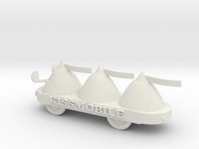 S Scale KissMobile in White Natural Versatile Plastic