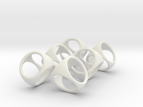 6 Blank D4 Shell Dice - Gen 2 in White Natural Versatile Plastic