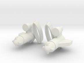 Titans Return Ravage G1 Weapons in White Natural Versatile Plastic