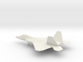 Lockheed Martin F-22 Raptor in White Natural Versatile Plastic: 1:72