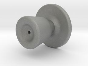 Door knob in 1:6 scale in Gray PA12