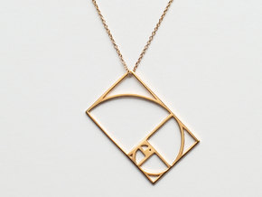 Golden Ratio in 18k Gold Plated Brass