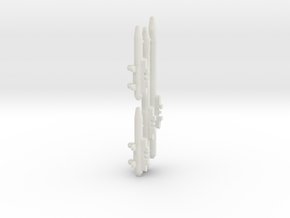 AMM 101 Pylons for VF-1 in White Natural Versatile Plastic: 1:60