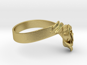 Fantasia: la Rose_size S in Natural Brass