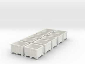 1:50 10x Palletbox in White Natural Versatile Plastic