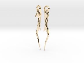 Medieval Spike Earrings - Twisted in 14k Gold Plated Brass