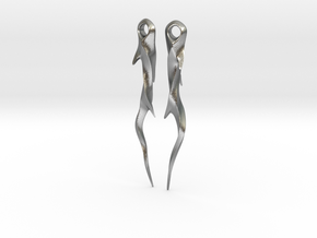 Medieval Spike Earrings - Twisted in Natural Silver