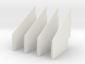 1:48 S-IC Fairing Fins in White Natural Versatile Plastic