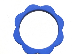 Flower Power - Bangle thick in Blue Processed Versatile Plastic