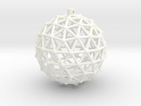 Magneto Xmas Ball in White Processed Versatile Plastic