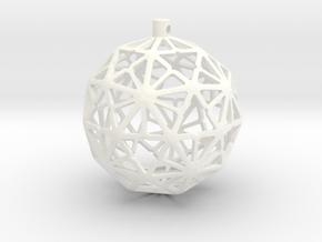 Paraflake Xmas Ball in White Processed Versatile Plastic