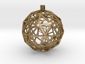 Paraflake Xmas Ball in Polished Gold Steel