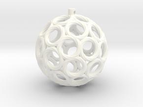 Swirlo Xmas Ball in White Processed Versatile Plastic