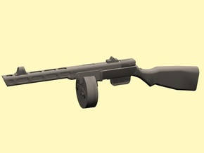 1/12 PPSh-41 machine gun in Smooth Fine Detail Plastic