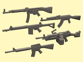 1/24 weapons set in Smooth Fine Detail Plastic