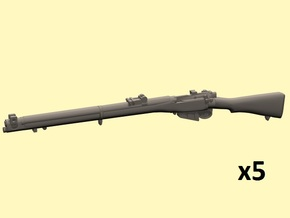 1/25 scale S.M.L.E. Lee-Enfield rifles in Smoothest Fine Detail Plastic