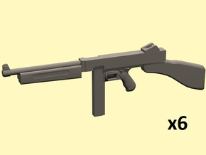 1/25 Thompson smg x6 in Smooth Fine Detail Plastic