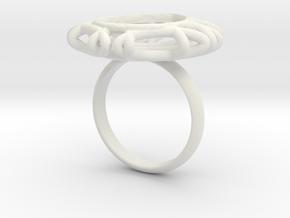Ring with Swarovski crystal in White Premium Versatile Plastic: 7.75 / 55.875