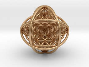 """Ball Of Life v2 Sphere 2.5""""  in Natural Bronze"""