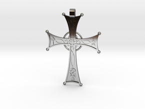 A Cross for All Christians in Fine Detail Polished Silver