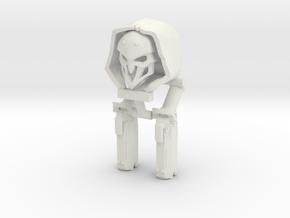 Custom Reaper Overwatch Inspired Lego in White Premium Versatile Plastic
