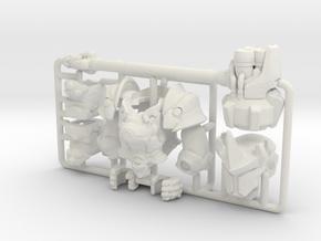 Custom Reinhardt Inspired Lego in White Premium Versatile Plastic
