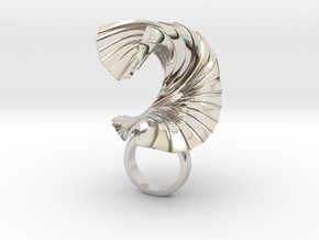 The Paper Wave in Rhodium Plated Brass