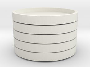 Spinning Trays for Smiley Sectors (5x) in White Natural Versatile Plastic