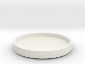 Spinning Tray for Smiley Sectors in White Natural Versatile Plastic