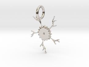 Crack Of The Sunflower Pendant in Platinum